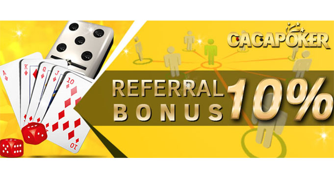 bonus poker online referral terbaik